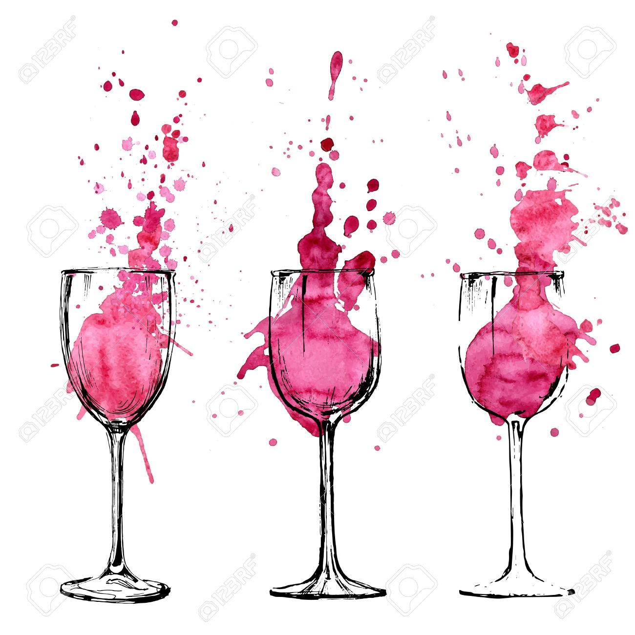 Wine Illustration Sketch And Art Style Royalty Free Cliparts Vectors And Stock Illustration Image 39288466