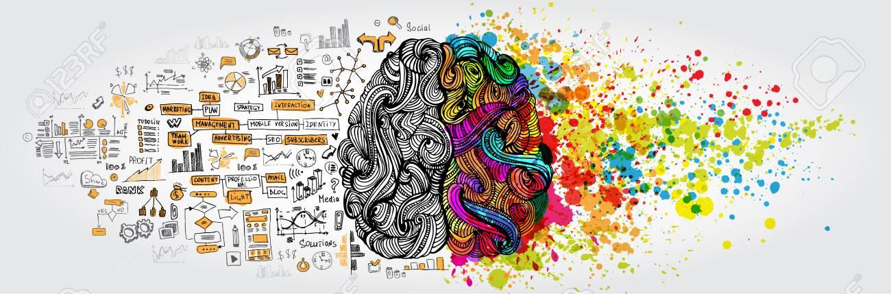 Left right human brain concept - 81440565