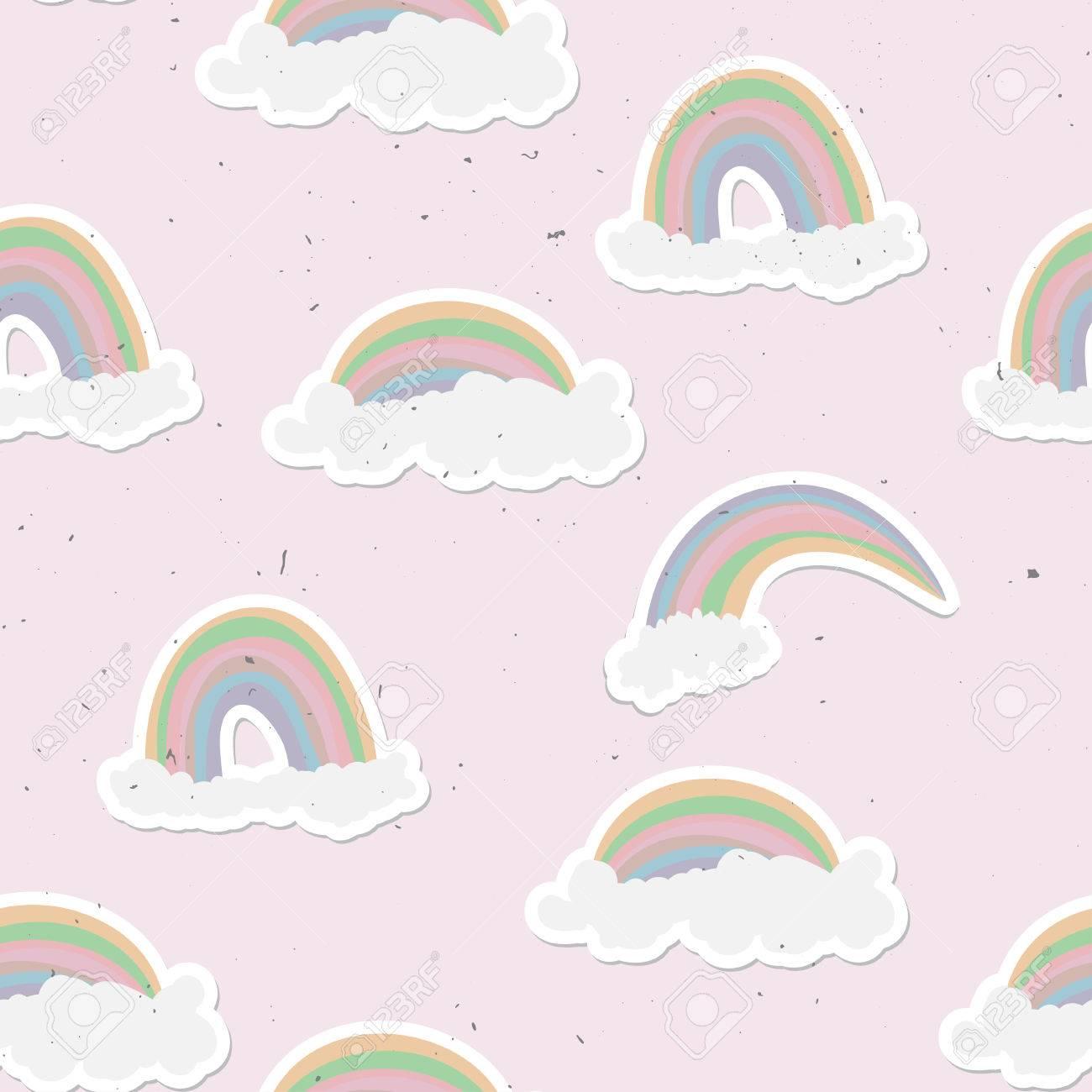 Cute rainbow seamless pattern sweet rainbow and clouds background cute rainbow seamless pattern sweet rainbow and clouds background 82040755 voltagebd Choice Image
