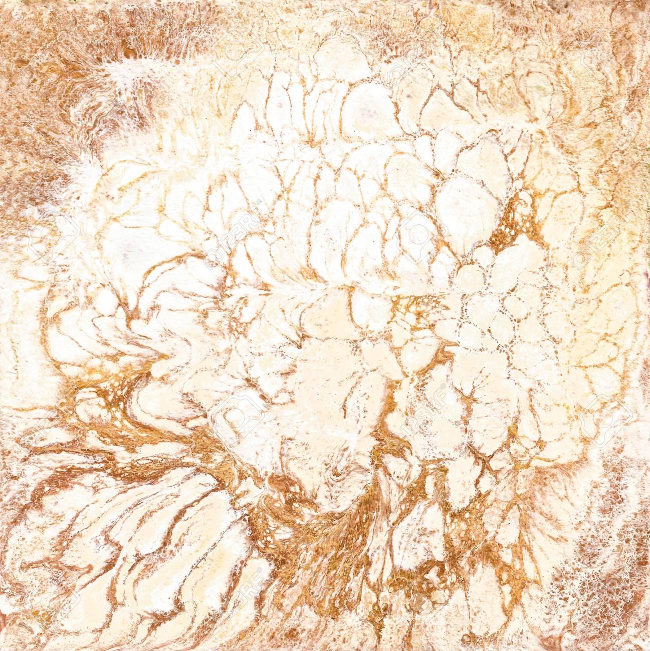 Texture De Marbre Blanc Et Doré Main Dessiner La Peinture Avec La Texture Marbrée Et Les Couleurs D Or Et De Bronze Fond De Marbre Or Motif De