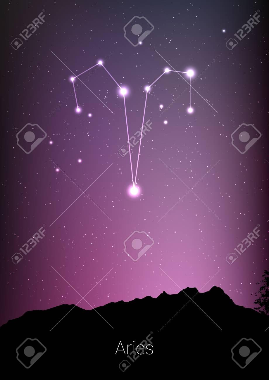 Celestial art Night sky ornament Adventure Aries Constellation Forest Night sky