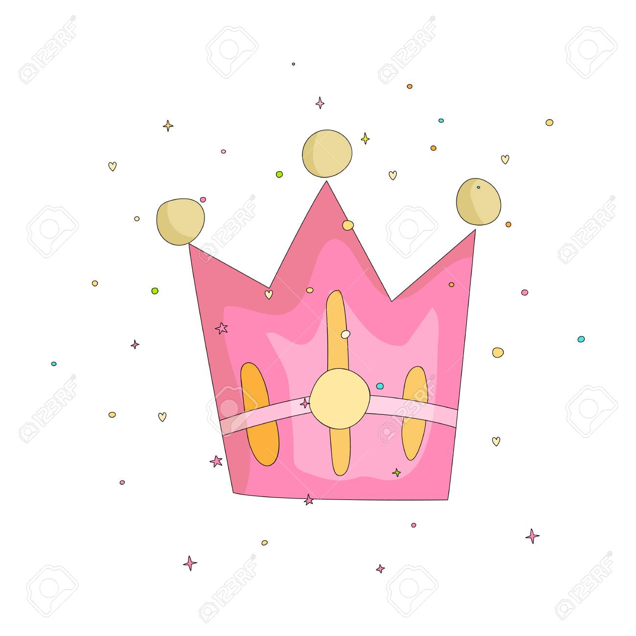Cute Pink Crown With Gems Cartoon Icon Fun Cartoon Crown With Royalty Free Cliparts Vectors And Stock Illustration Image 114355724 Browse our cartoon crown images, graphics, and designs from +79.322 free vectors graphics. cute pink crown with gems cartoon icon fun cartoon crown with