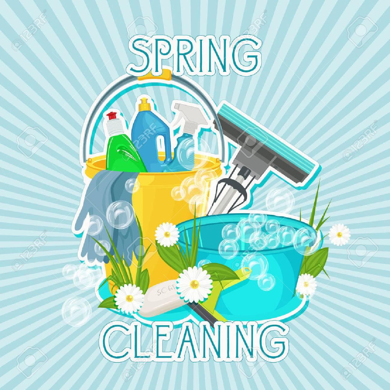 Diseño De Cartel Para El Servicio De Limpieza Y Productos De