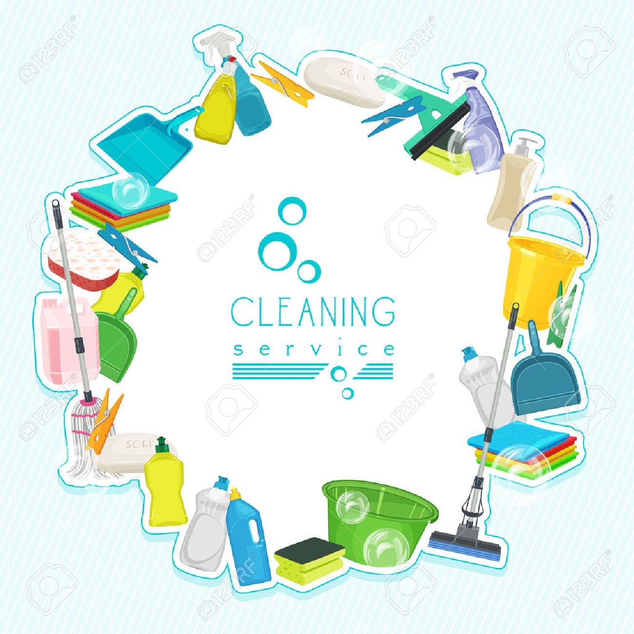 Sparkling clean kitchen clipart - House Cleaning Poster Design For Cleaning Service And Cleaning Supplies Cleaning Kit Icons Illustration