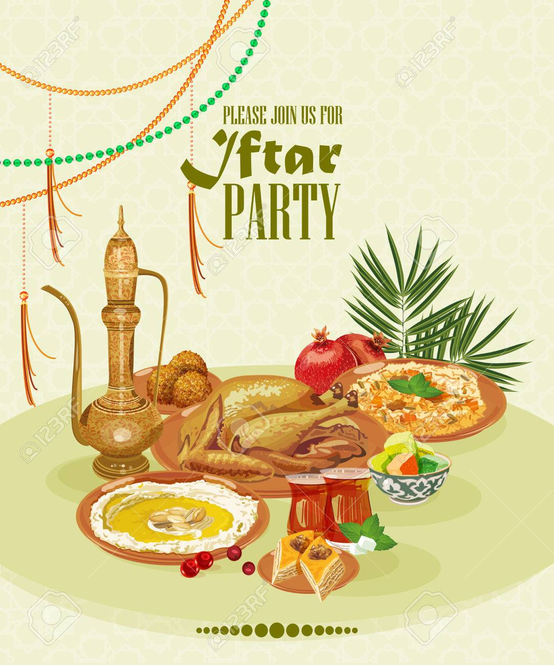 Iftar party celebration ramadan kareem beautiful invitation iftar party celebration ramadan kareem beautiful invitation card stock vector 39572119 stopboris Gallery