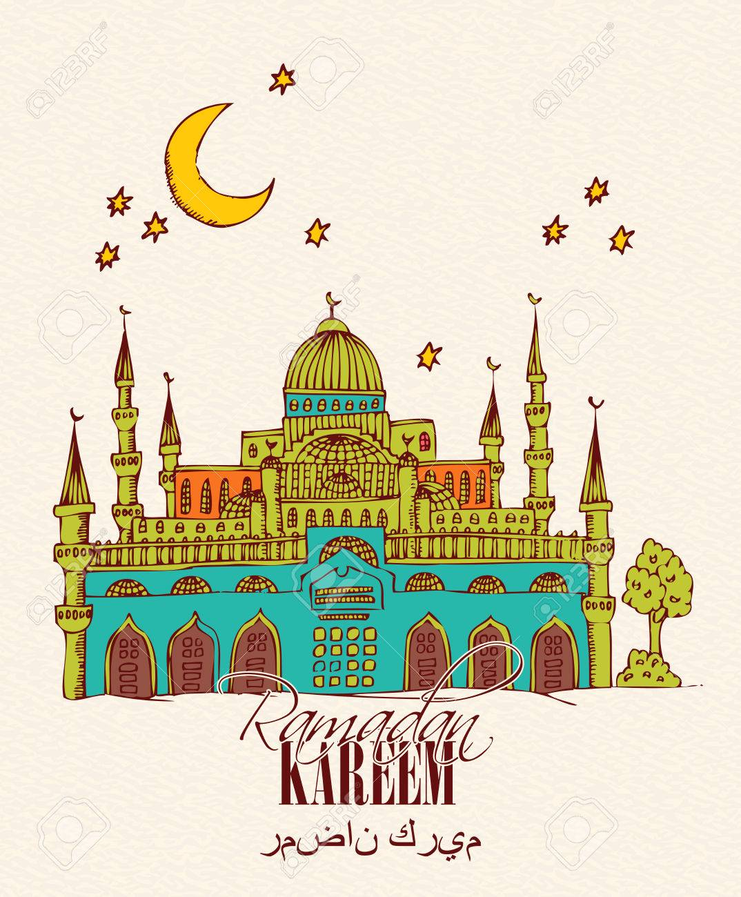 Creative greeting card design for holy month of muslim community creative greeting card design for holy month of muslim community festival ramadan kareem stock vector m4hsunfo