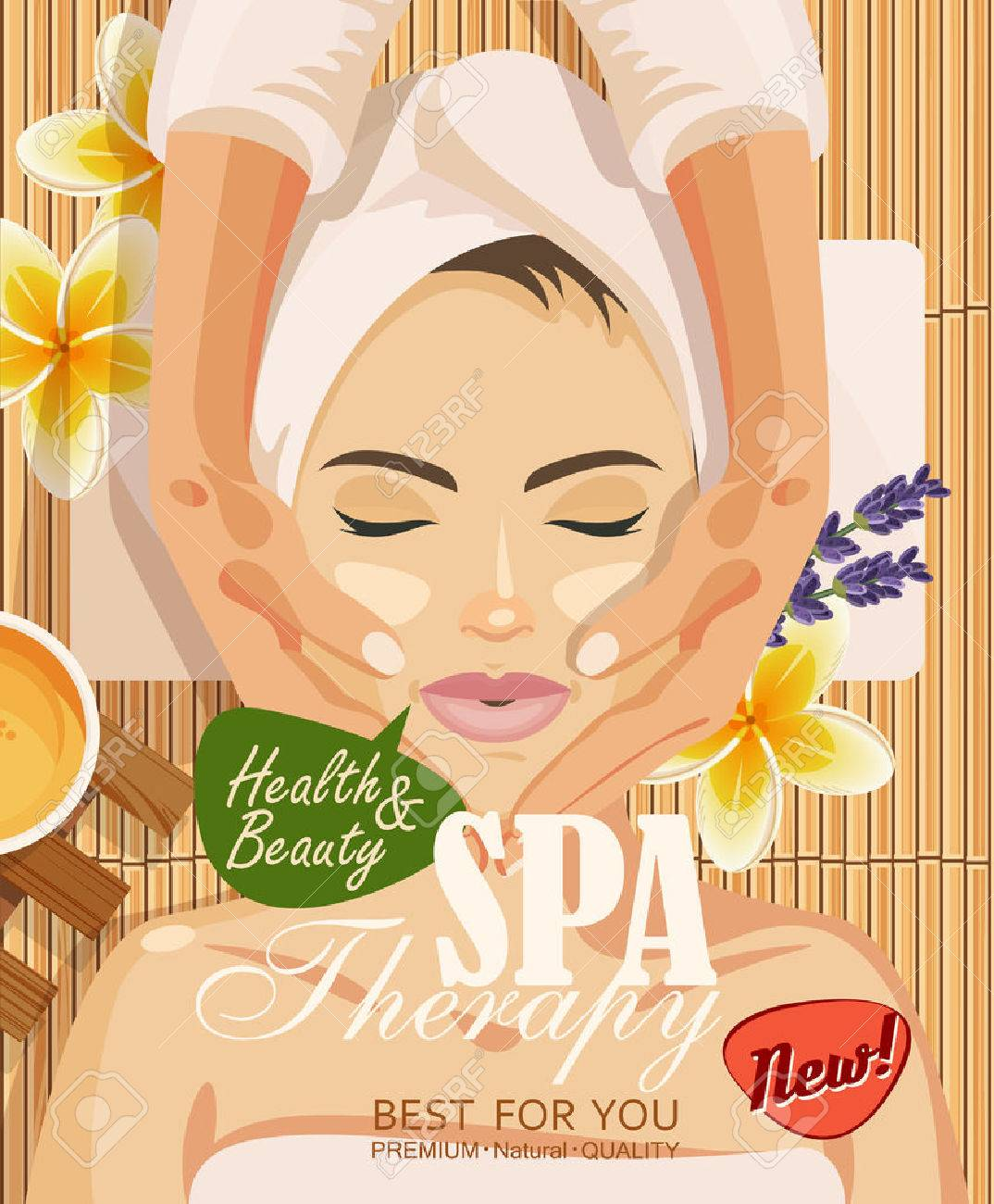 Illustration Woman Taking Facial Massage Treatment In The Spa Royalty Free Cliparts Vectors And Stock Illustration Image 43938515