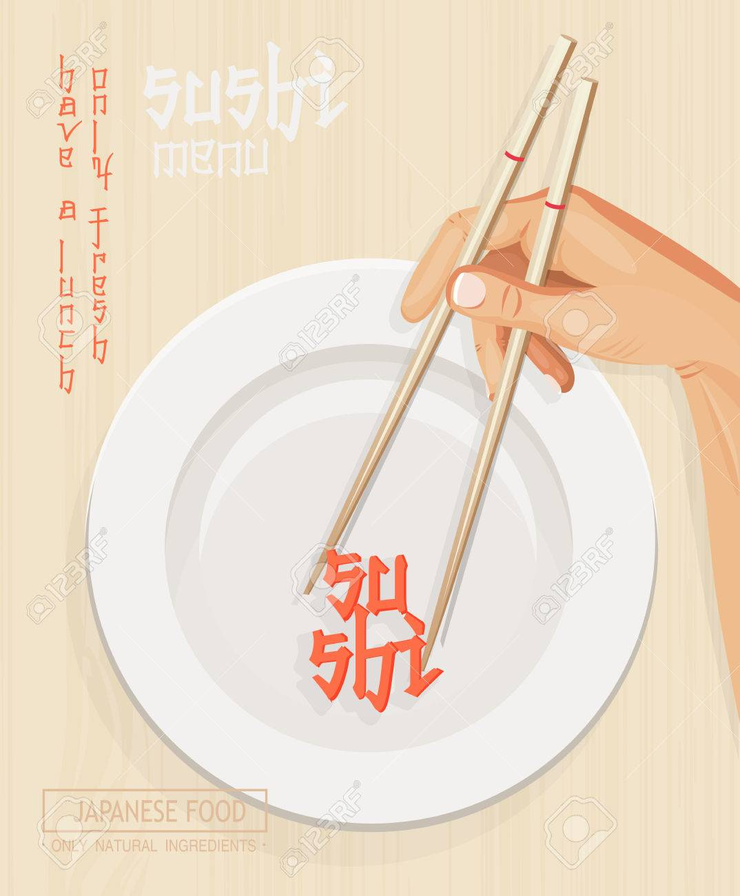 japanese cuisine restaurant sushi menu cover in light design royalty