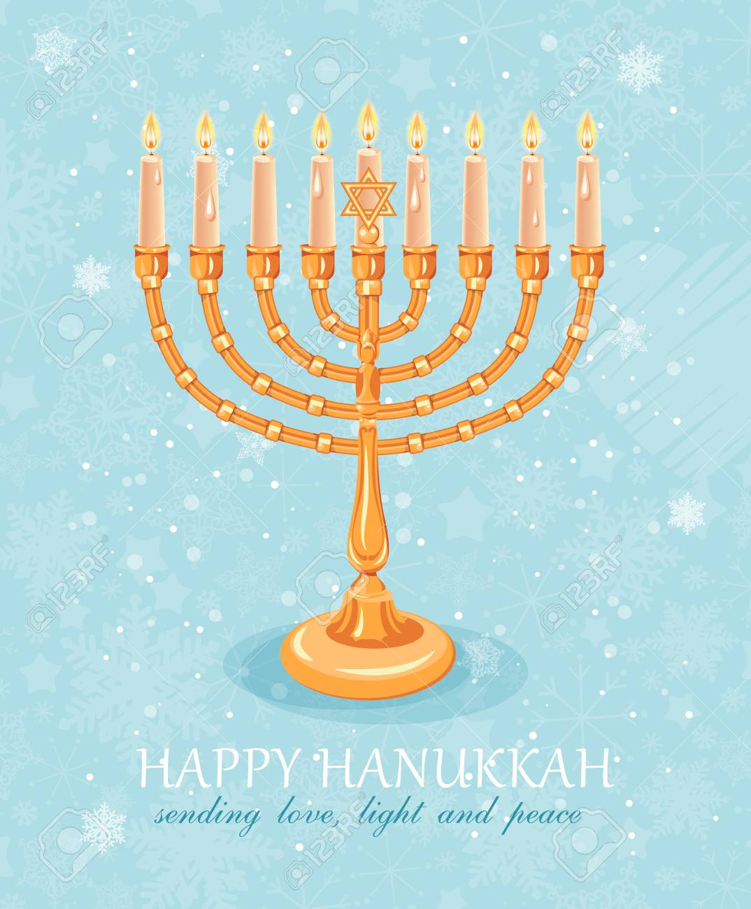 Happy hanukkah greeting card design jewish holiday vector happy hanukkah greeting card design jewish holiday vector illustration stock vector 48707966 m4hsunfo