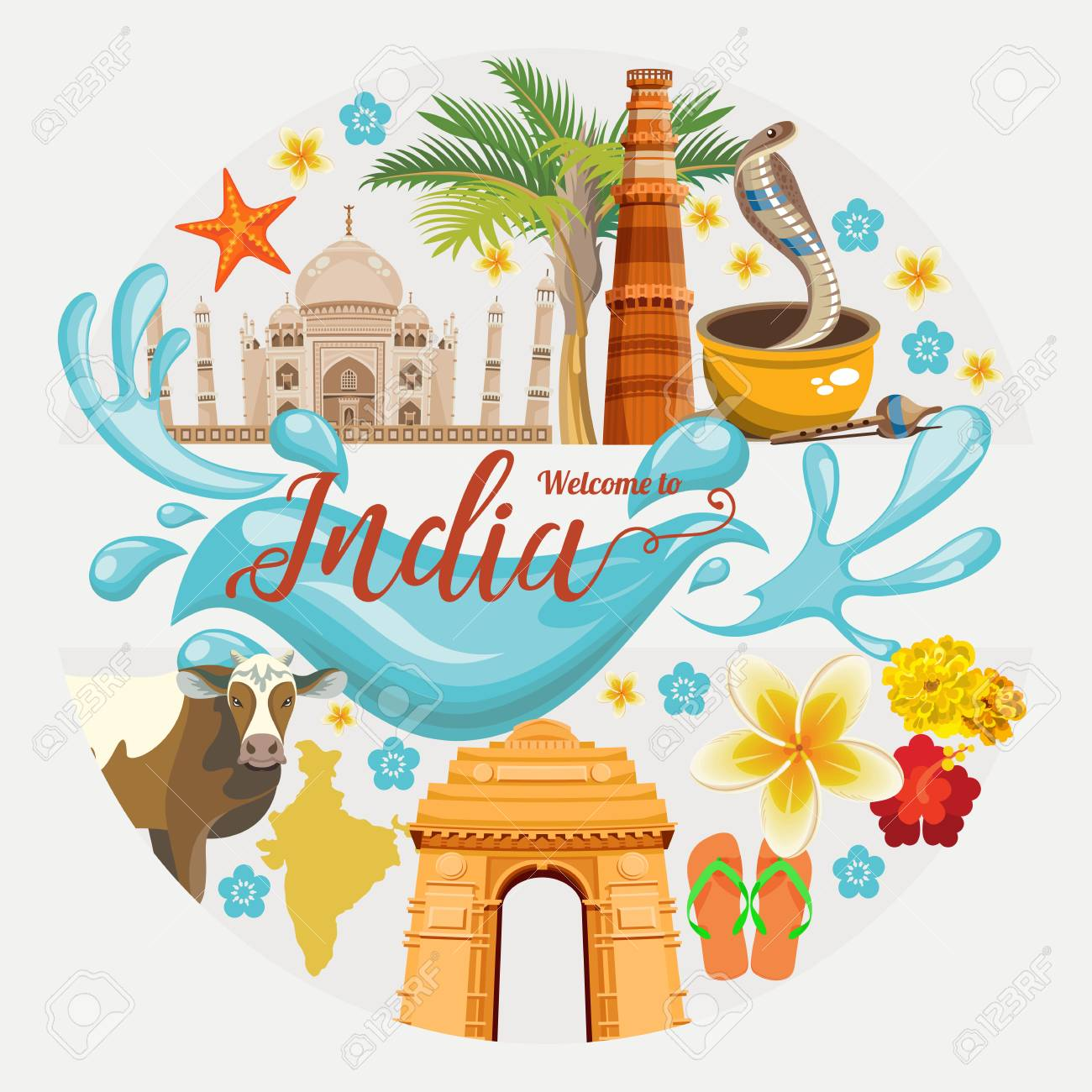 India Tourism Stock Vector Illustration And Royalty Free India Tourism  Clipart