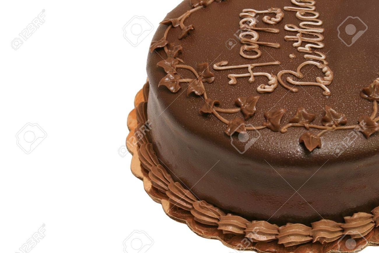 A Top View Of A Chocolate Birthday Cake With The Words Happy - Words on cake for birthday