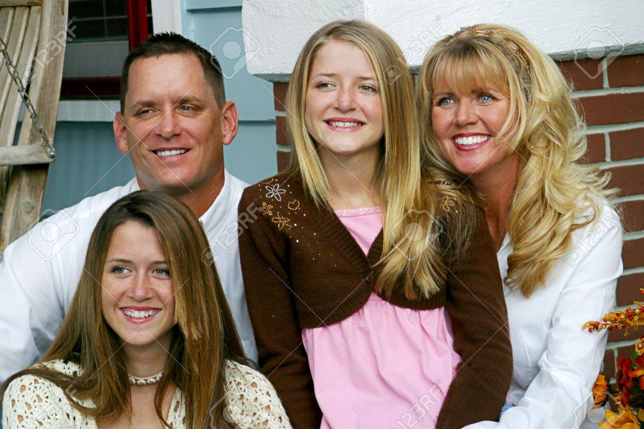 A beautiful family spending time together. Stock Photo - 1406773