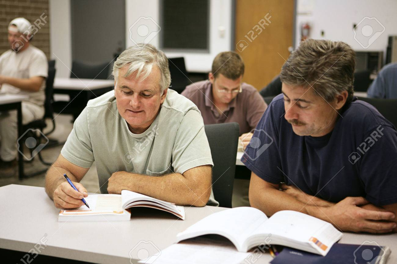 A man in his fifties going back to school for career training. Stock Photo - 1718490