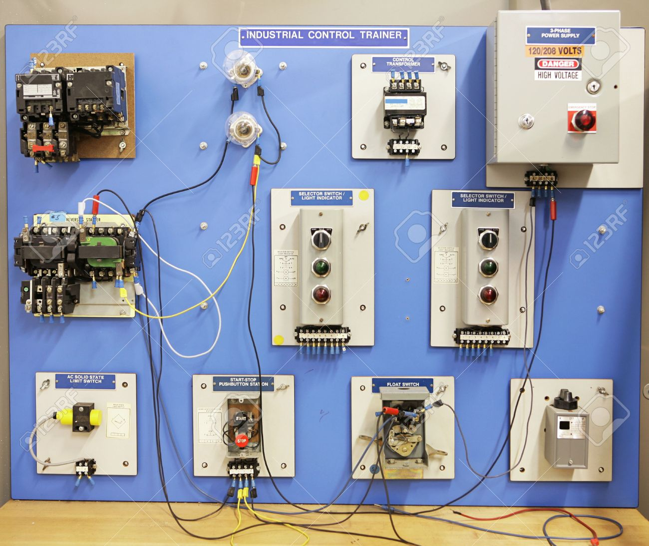 Comfortable Electrical Panel Board Wiring Gallery And 2163113 An Industrial Motor Control Training Used