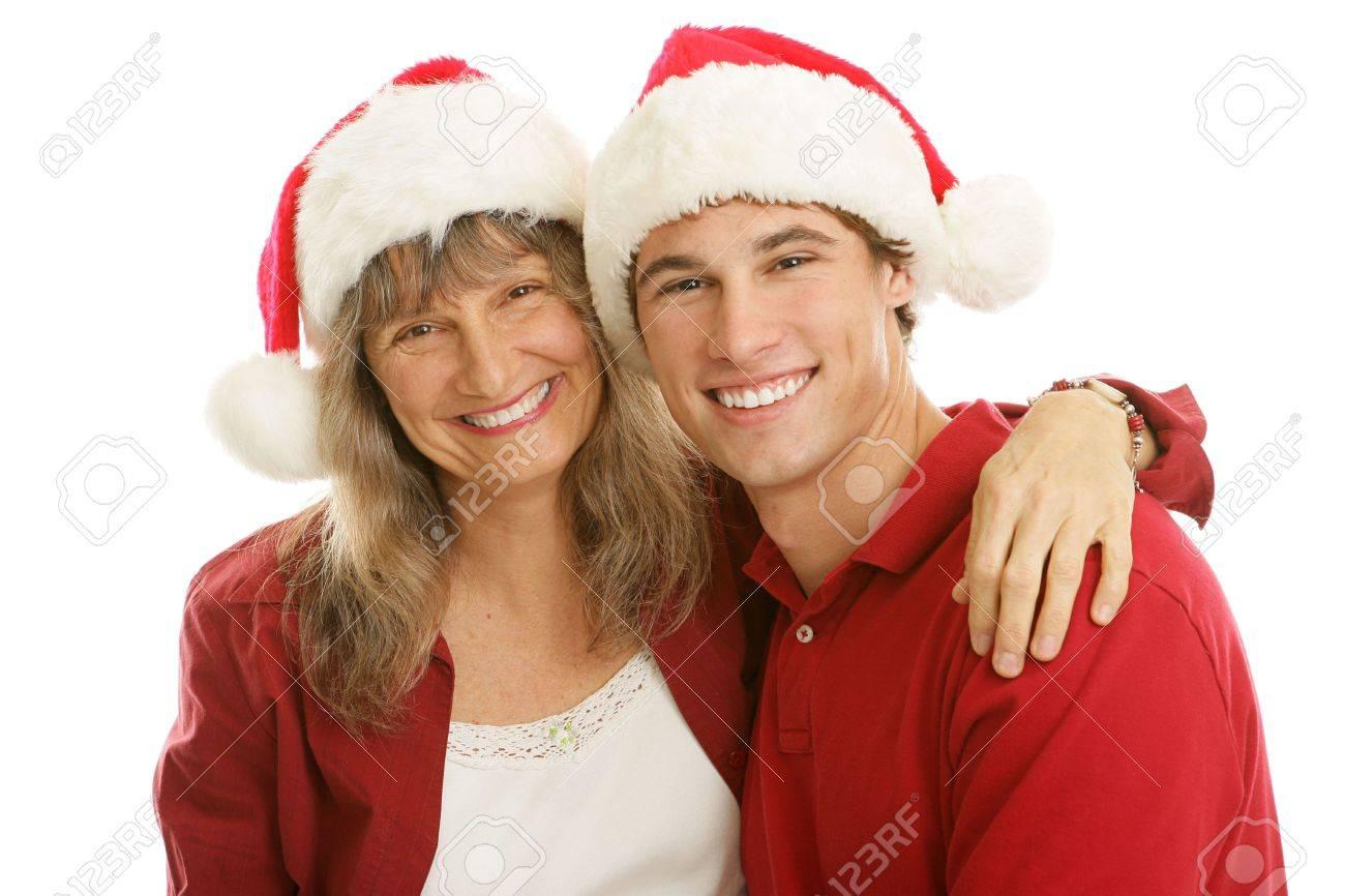 Lteres Allein Erziehende Mutter Weihnachts-Ausgaben Mit Ihrem ...