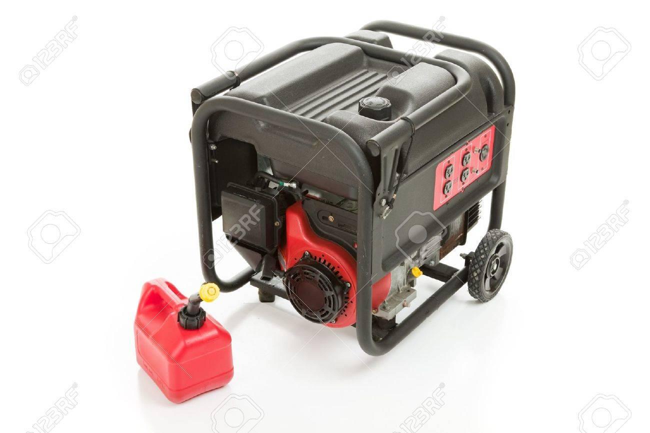 emergency gas powered strom generator und kann von benzin. isoliert