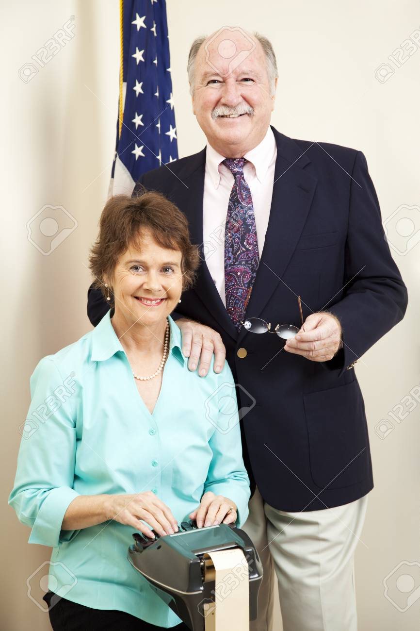 Court reporter and lawyer together at the courthouse. Stock Photo - 8869938