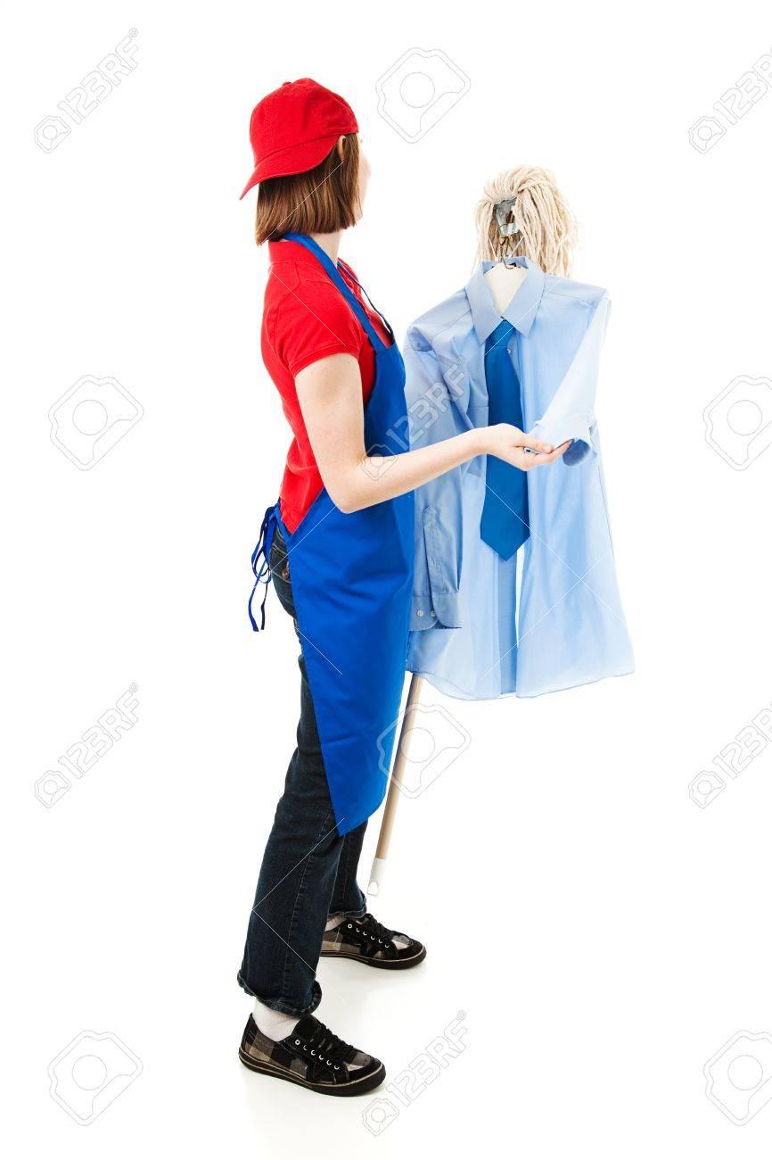 Mop with dance teen