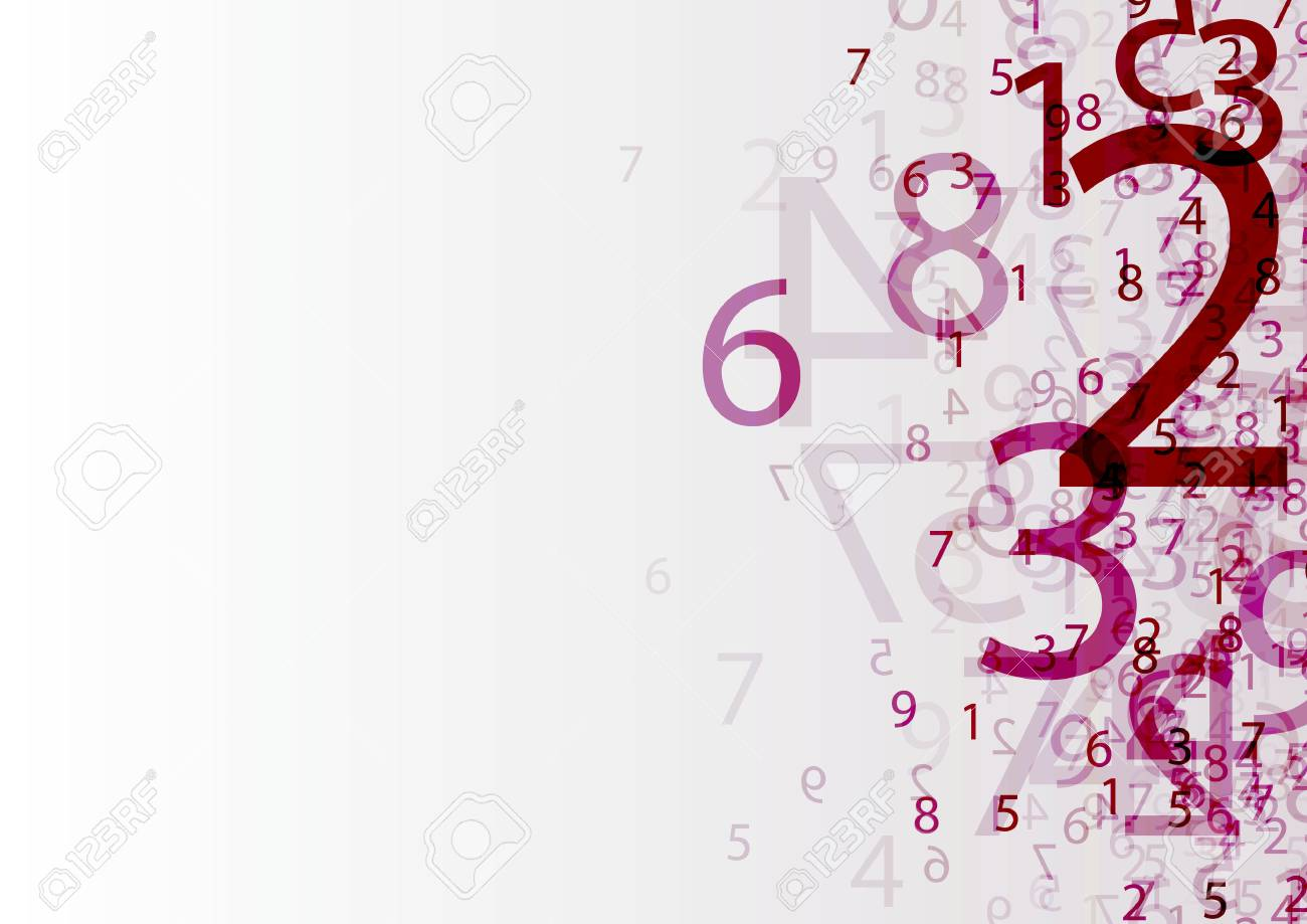 abstract background with transparent group of numbers - 60142048