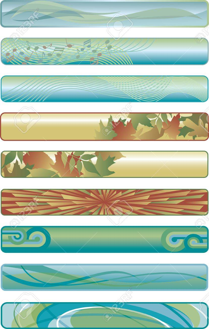 Assorted Web Banners Stock Vector - 9412174