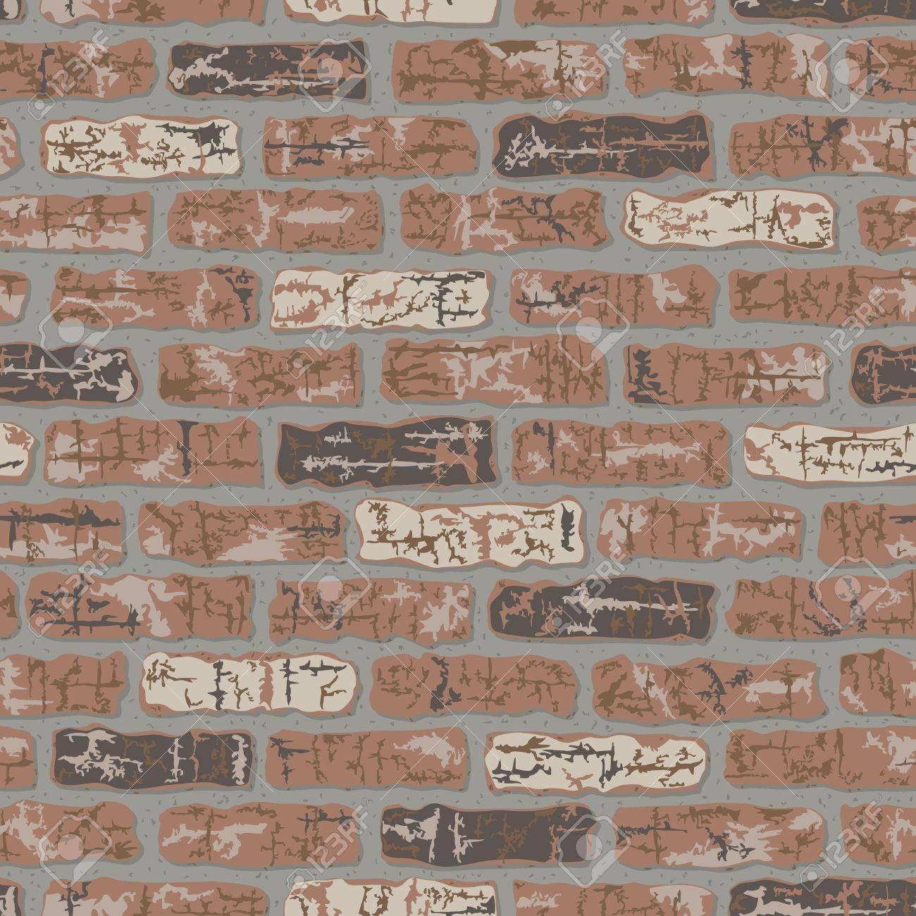 Vector seamless classic brick wall pattern. Stock Vector - 9756044