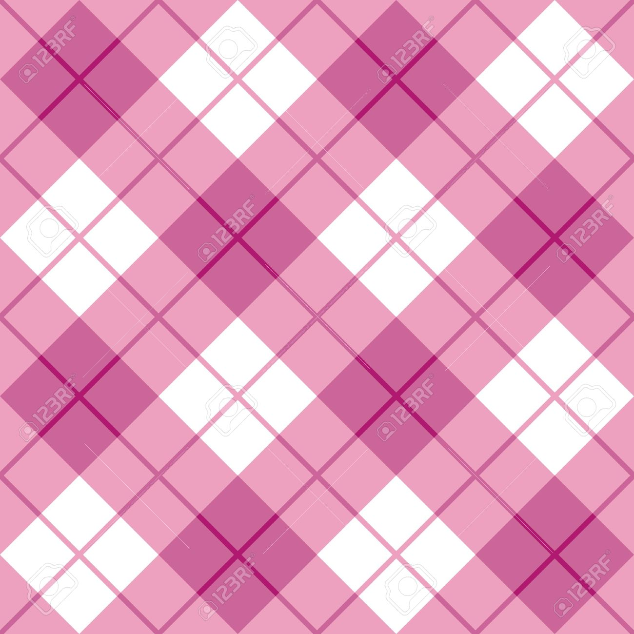 Seamless diagonal plaid pattern in pink Stock Vector - 13317294