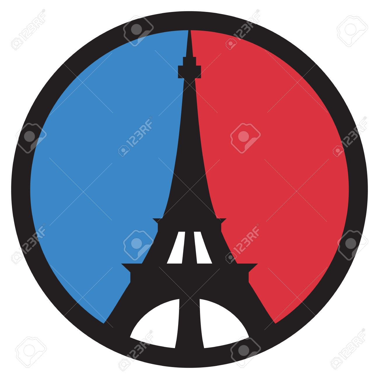 Eiffel tower peace symbol in the colors of the french flag eiffel tower peace symbol in the colors of the french flag stock vector 58109179 biocorpaavc