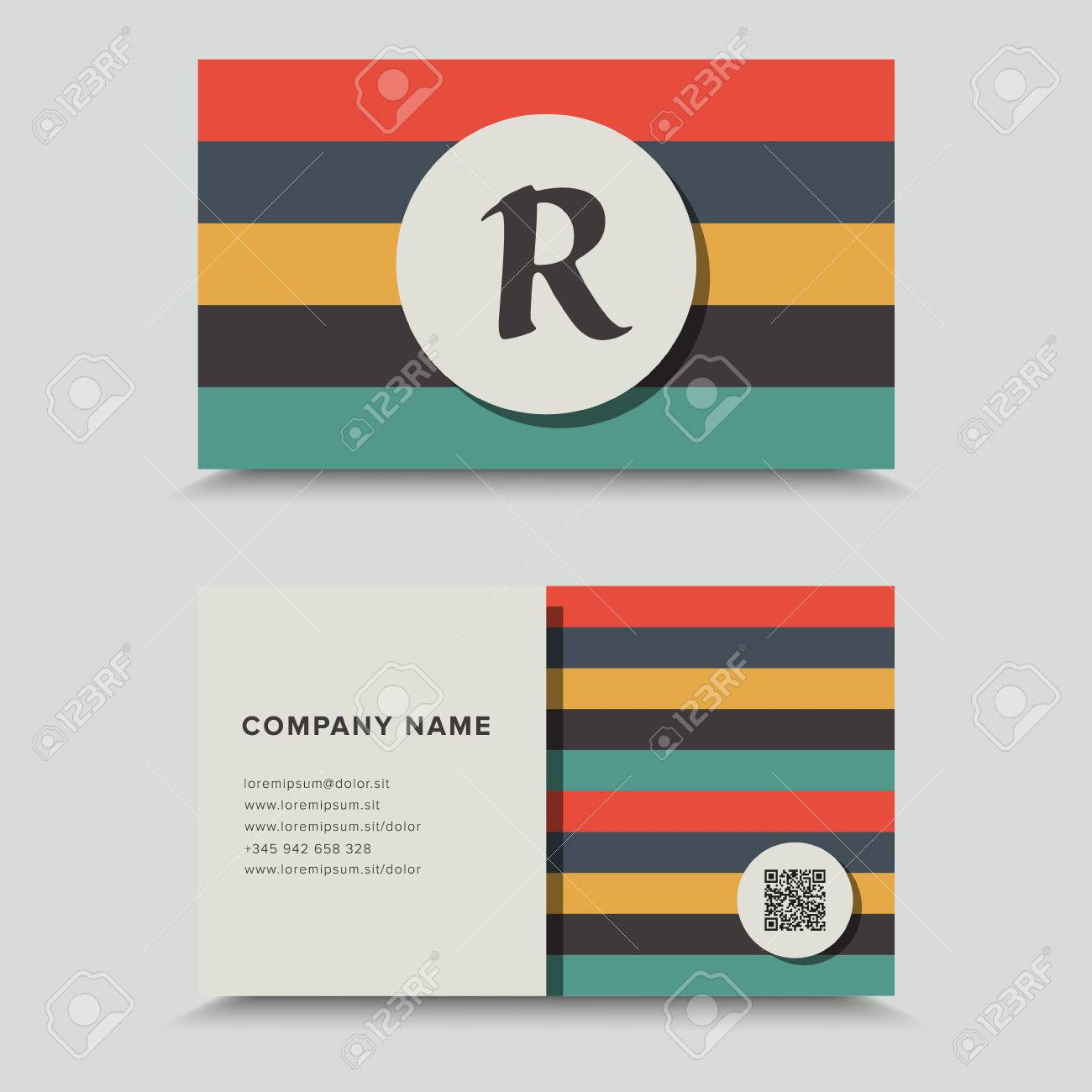 Visit card with qr code business card design royalty free cliparts vector visit card with qr code business card design colourmoves