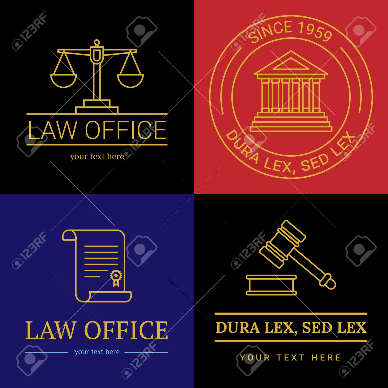 law office collection the judge law firm template lawyer set