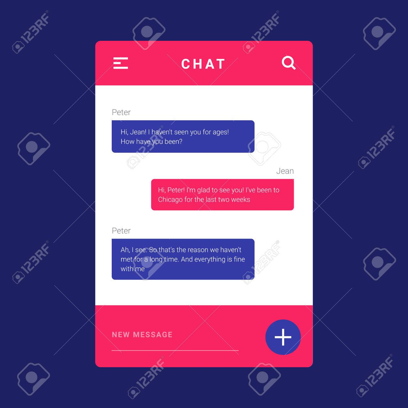 Ui Ux And Gui Template Layout For Mobile Apps Pink And Blue Royalty Free Cliparts Vectors And Stock Illustration Image 64035731