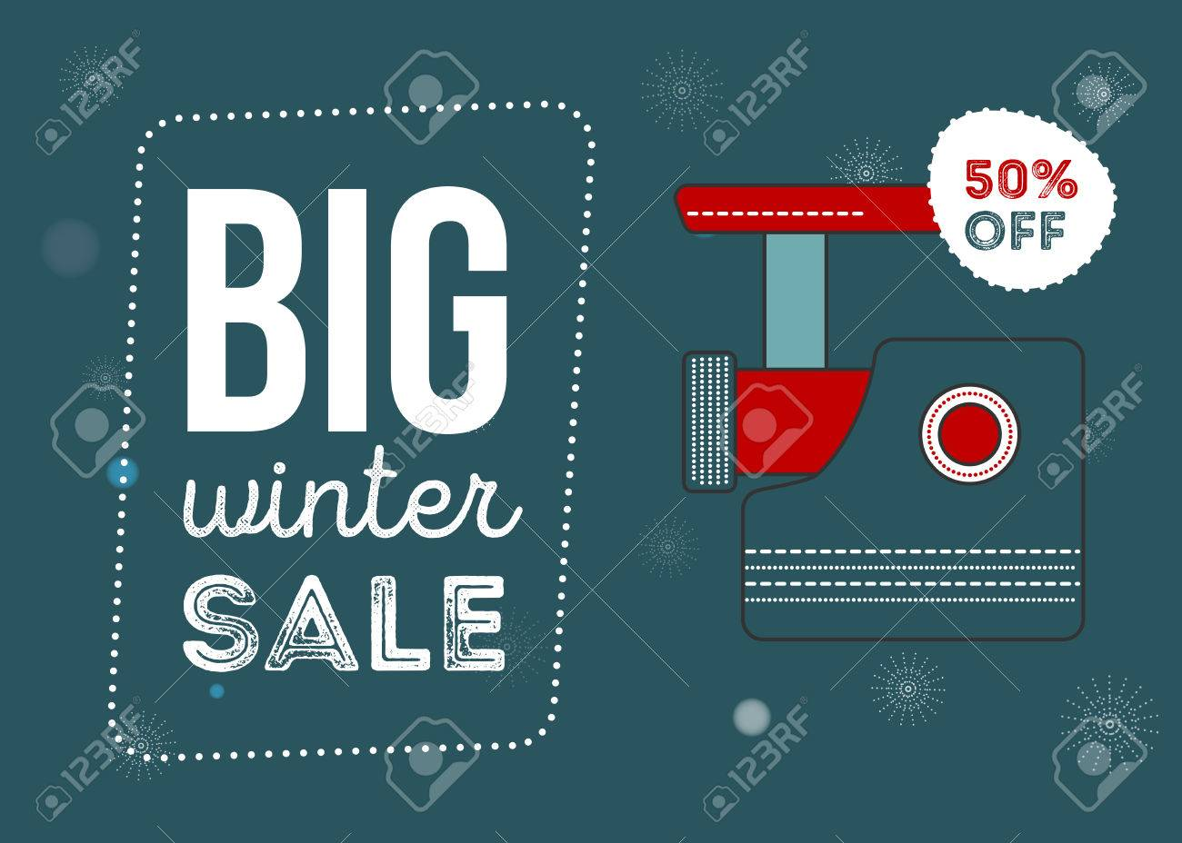 Big Winter Sale Poster. Kitchen Electronics Sale 50 Percent Off ...