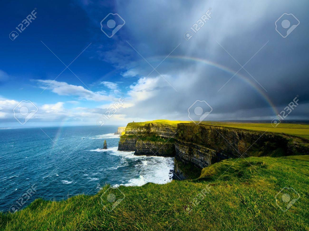 Rainbow above Cliffs of Moher Ireland - 16797307