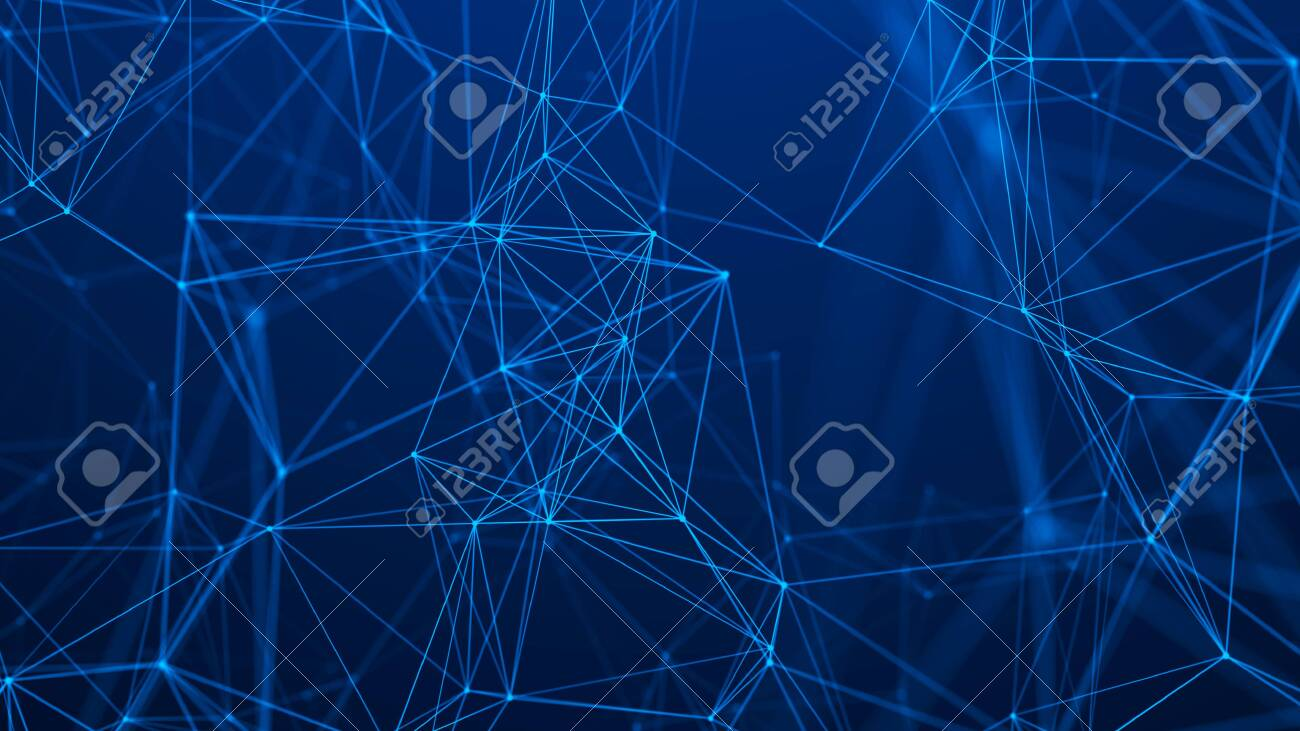 Network connection structure. Abstract technology background. Futuristic background. Big data digital background. 3d rendering. - 121588471