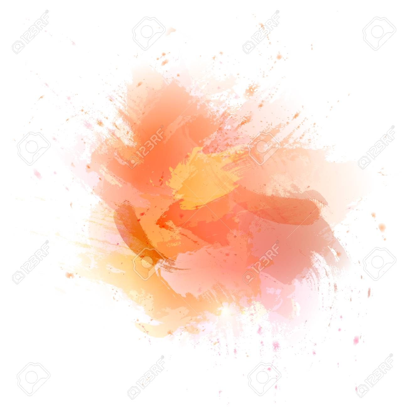 Abstract Orange Vector Watercolor Background The Color Splashing