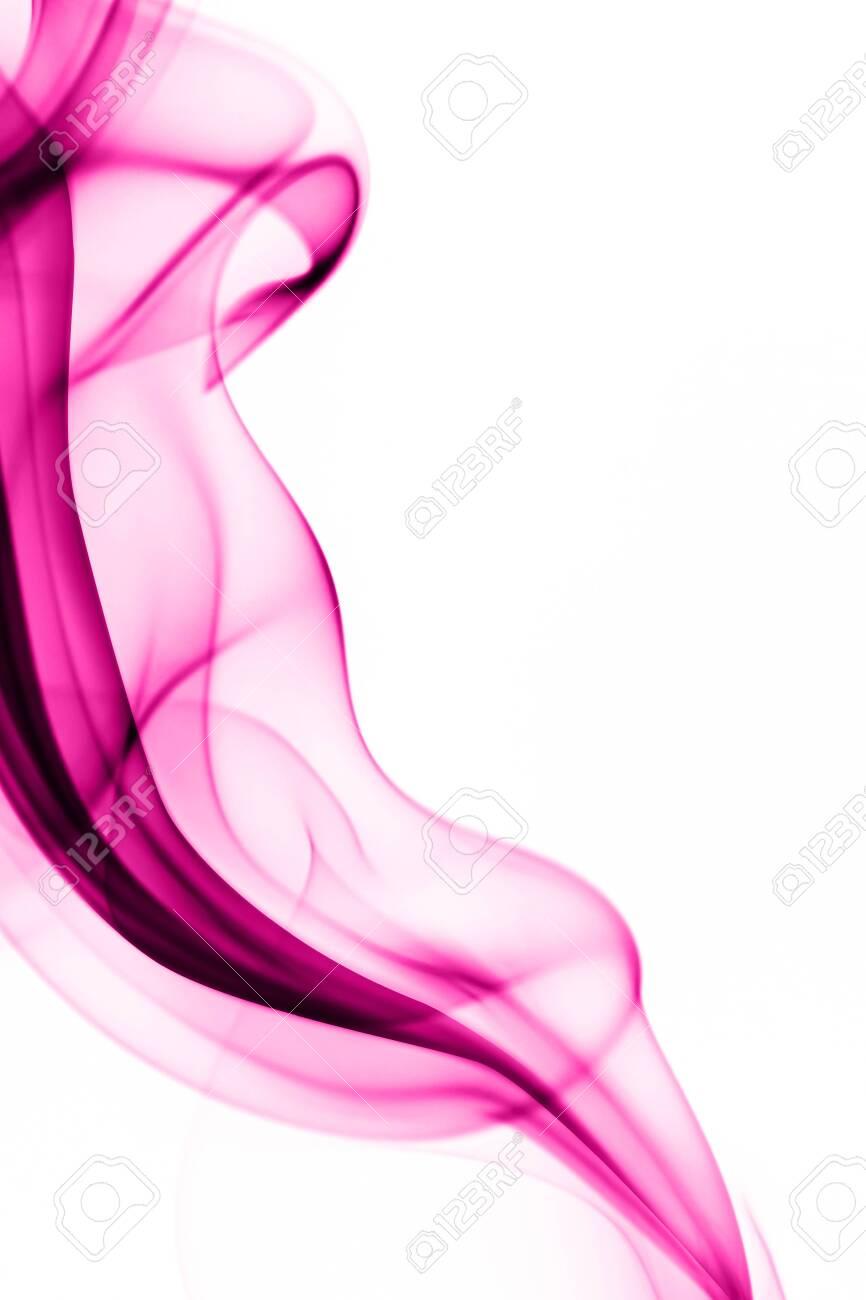 Pink smoke on white background - 140164833