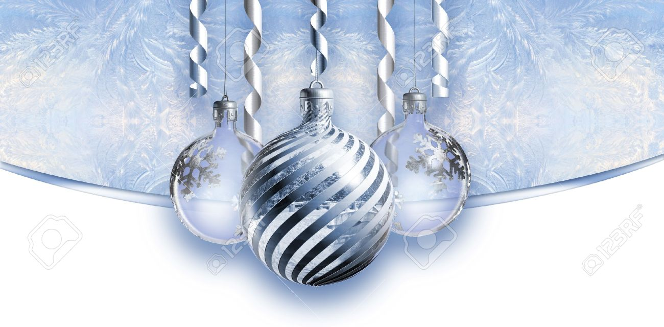 Elegant christmas header with baubles. Stock Photo - 9861465