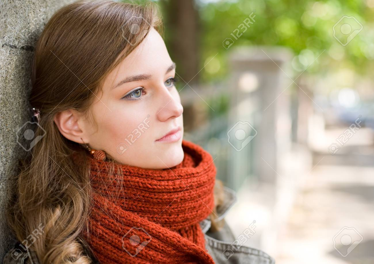 Portrait of a fashionable dreamy thoughtful young blond. Stock Photo - 15005499