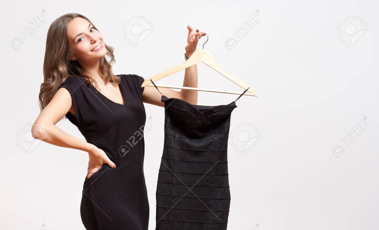 Portrait of a young brunette beauty having shopping fun. - 49189172