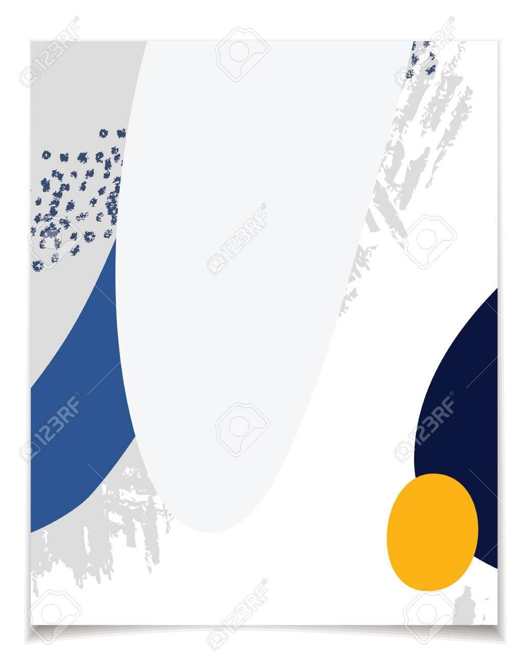 Vektor-Karte Vorlage Mit Abstrakten Design. Blaue Und Graue Farben ...