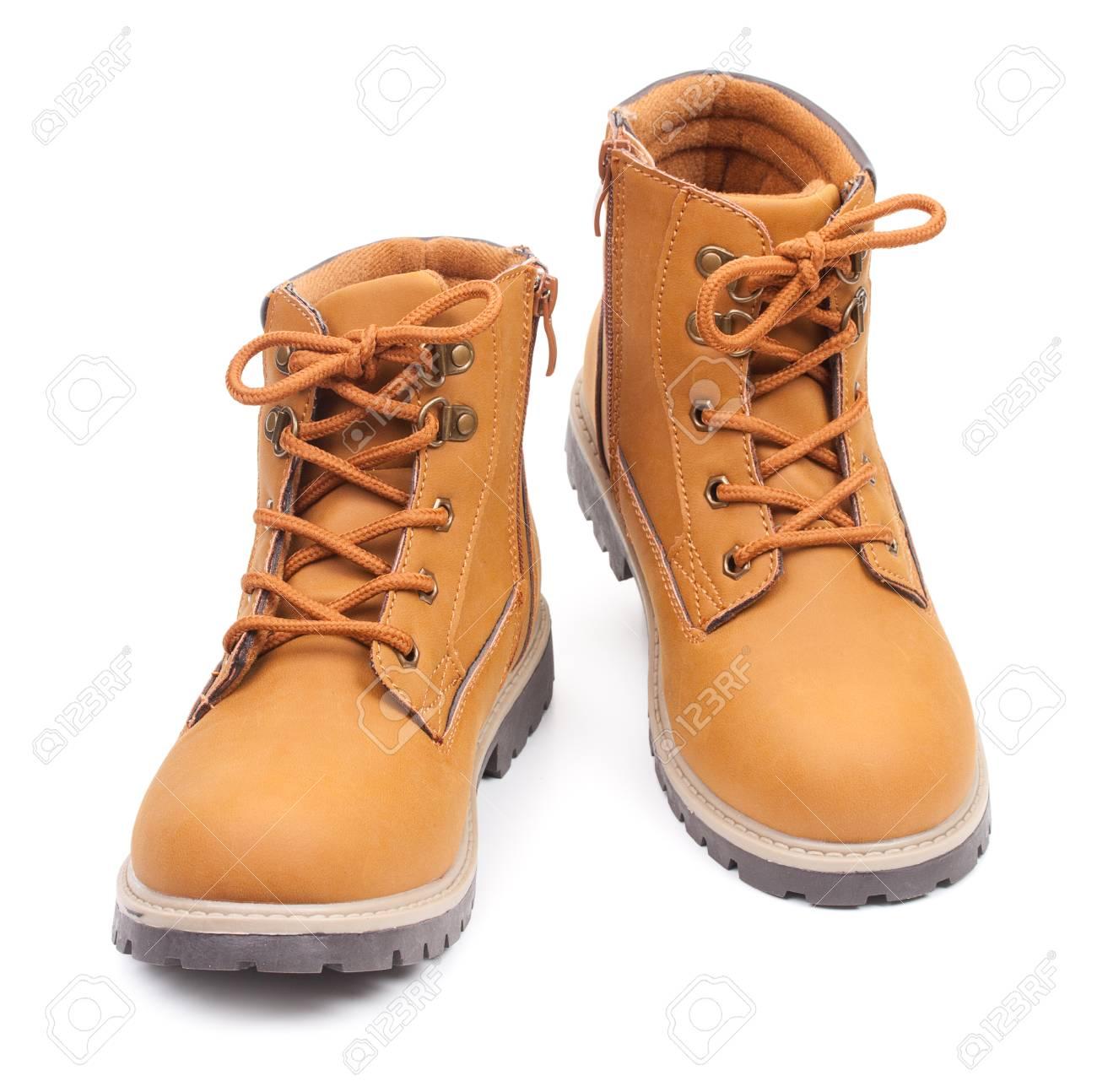 Stylish childrens boots foto