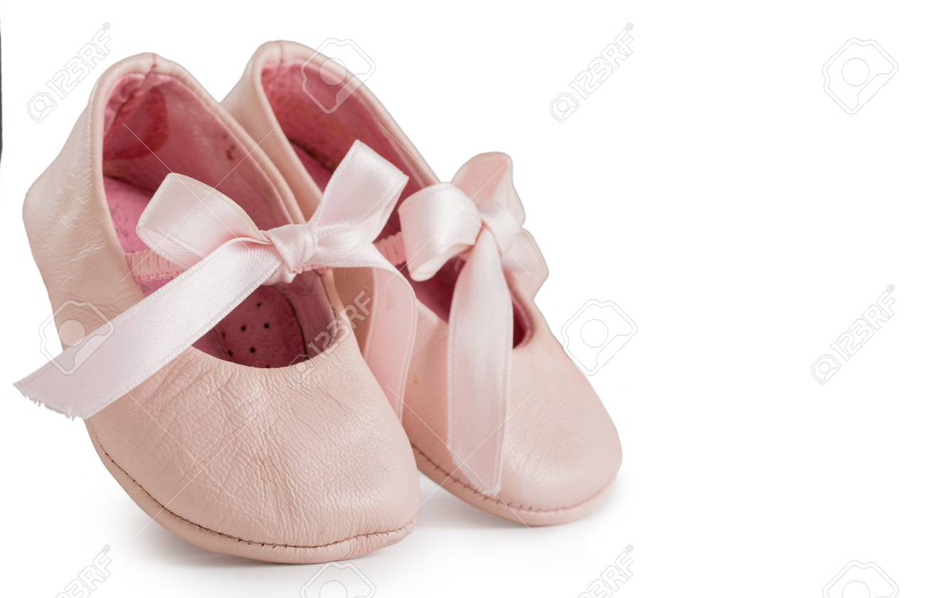 Pair Of Pink Ballet Shoes With Bowknot