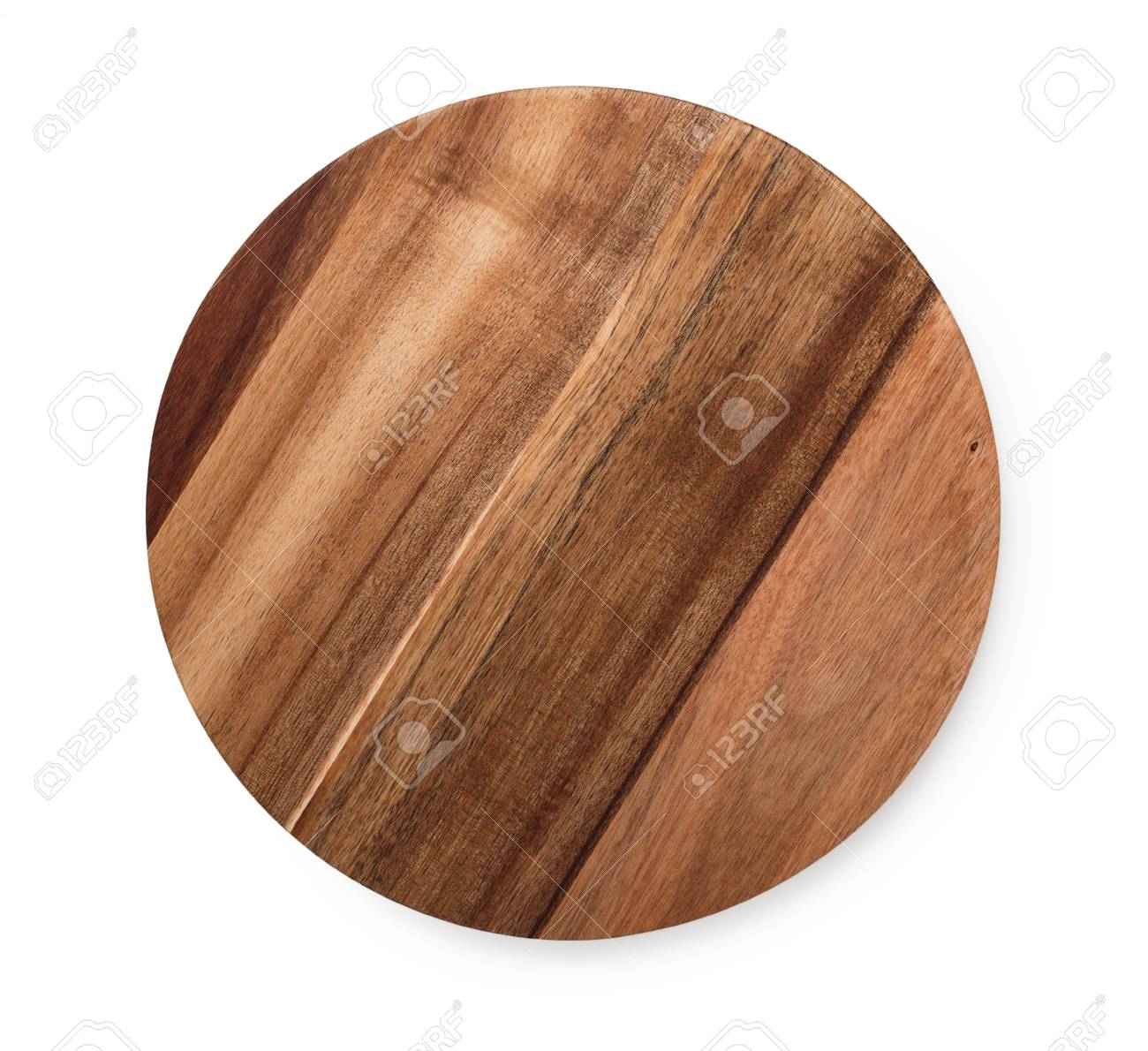 Acacia Wood Round Cutting Board Isolated On White Background Top View Banco De Imagens Royalty Free Ilustracoes Imagens E Banco De Imagens Image 89174774