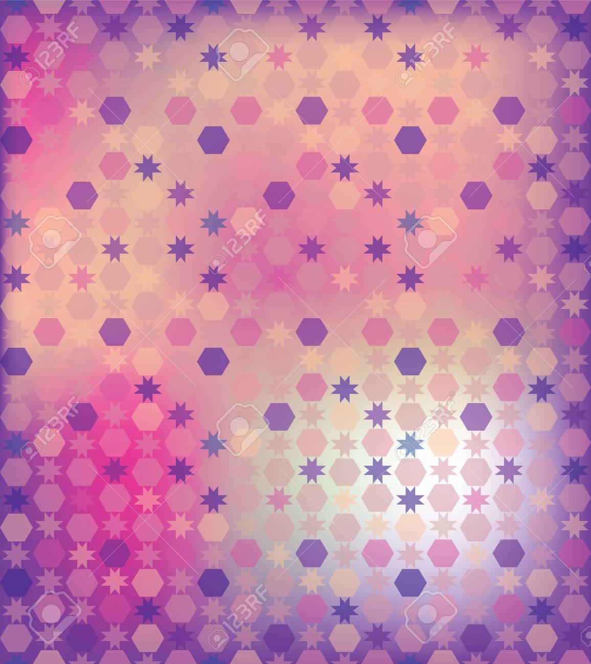 Fondo Abstracto Del Hexagono Y El Pastel Color Lila Primavera - Color-lila-pastel