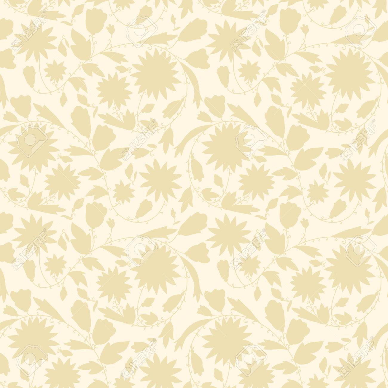 Neutral Floral Background Swirls And Curves Use As A Backdrop