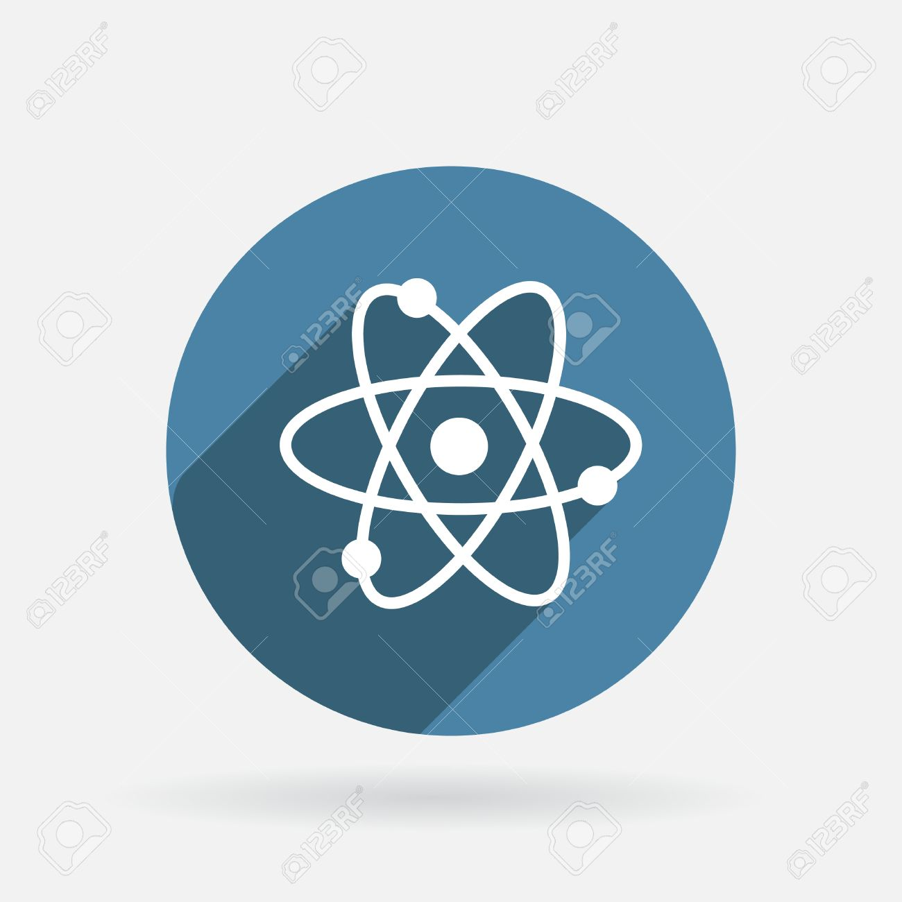 The atom molecule the symbol of physics and chemistry circle the atom molecule the symbol of physics and chemistry circle blue icon with buycottarizona Image collections