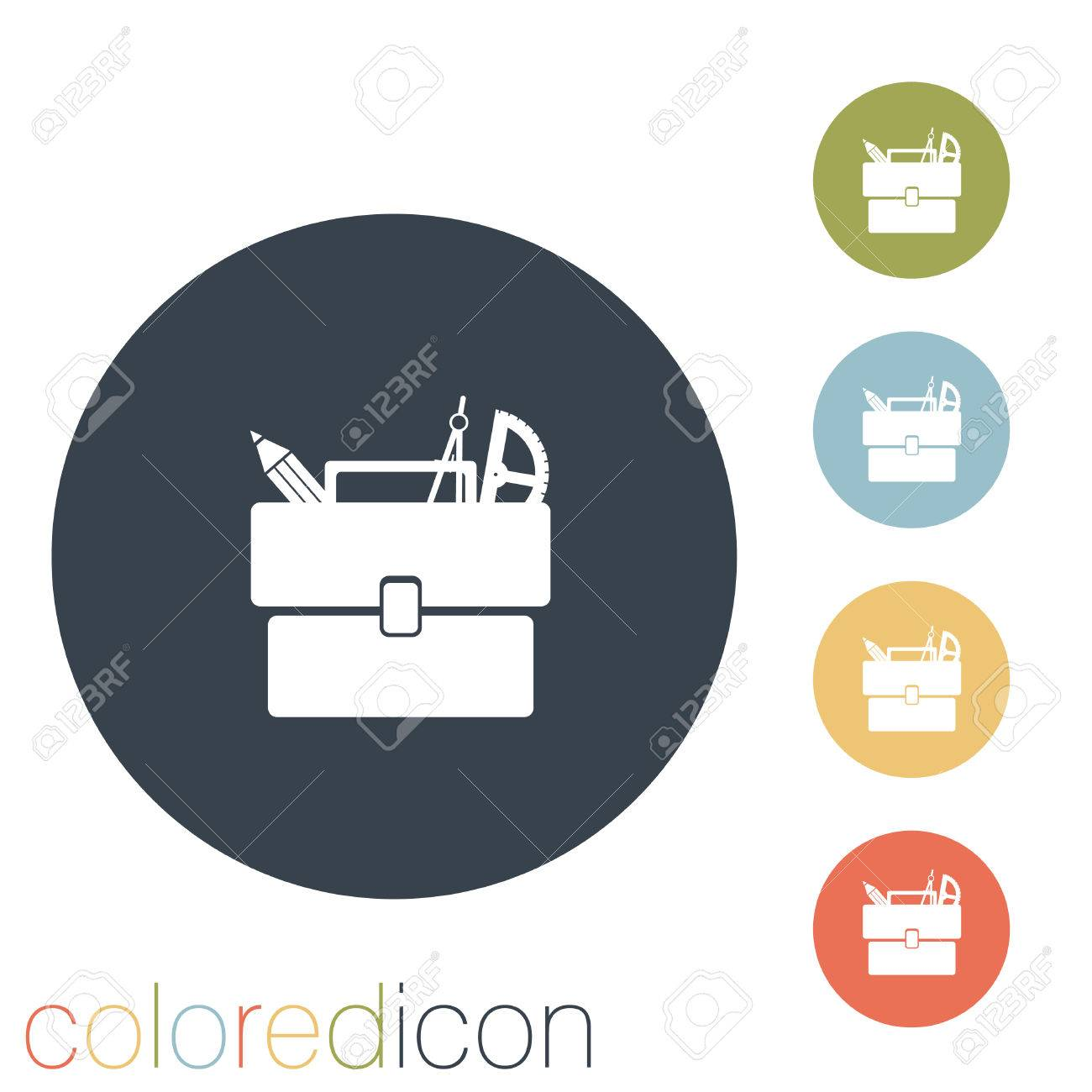 School bag diagram - School Bag With Stationery Symbol Office Or School Stock Vector 32589289