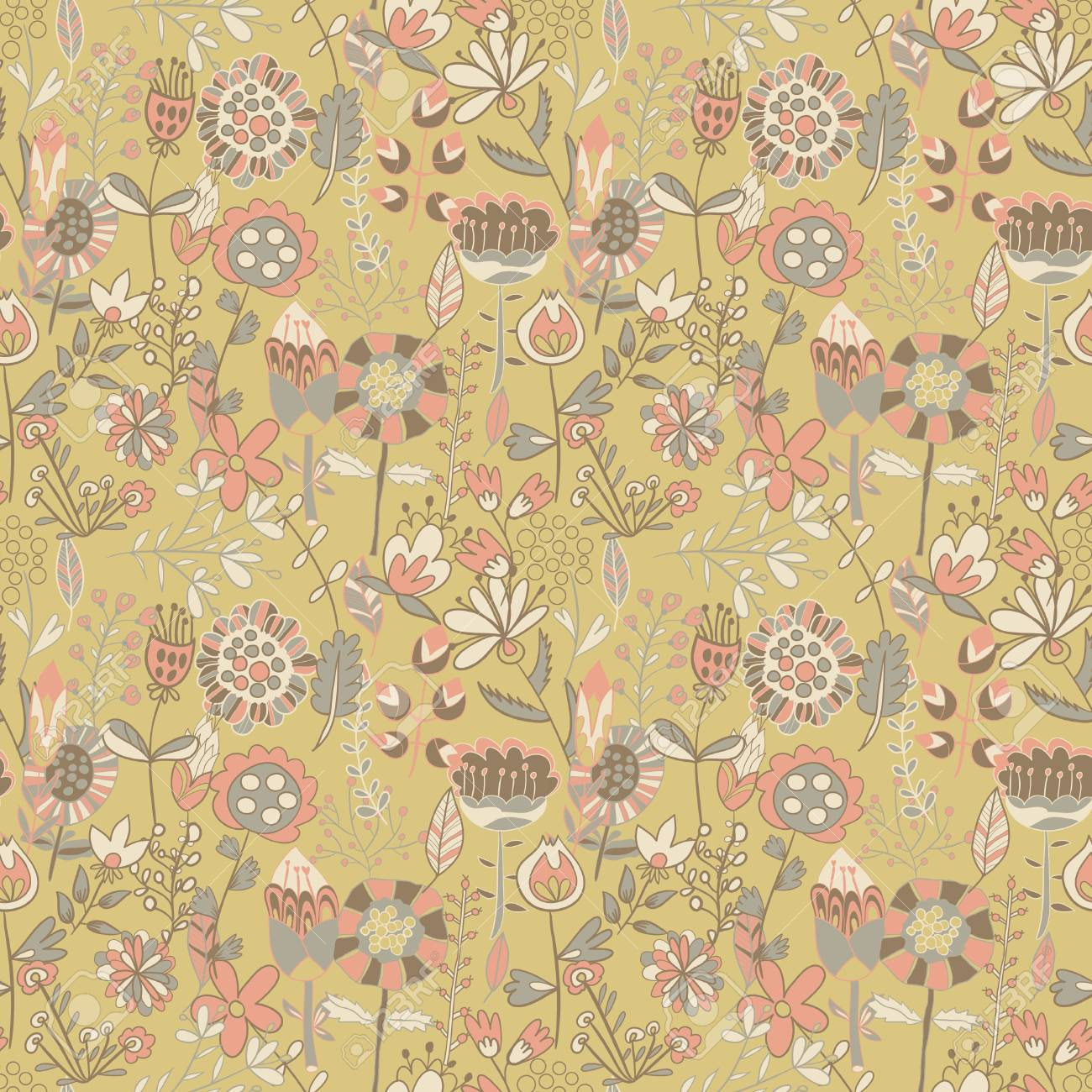 Flower Pattern Seamless Texture Endless Floral Can Be Used For Wallpaper