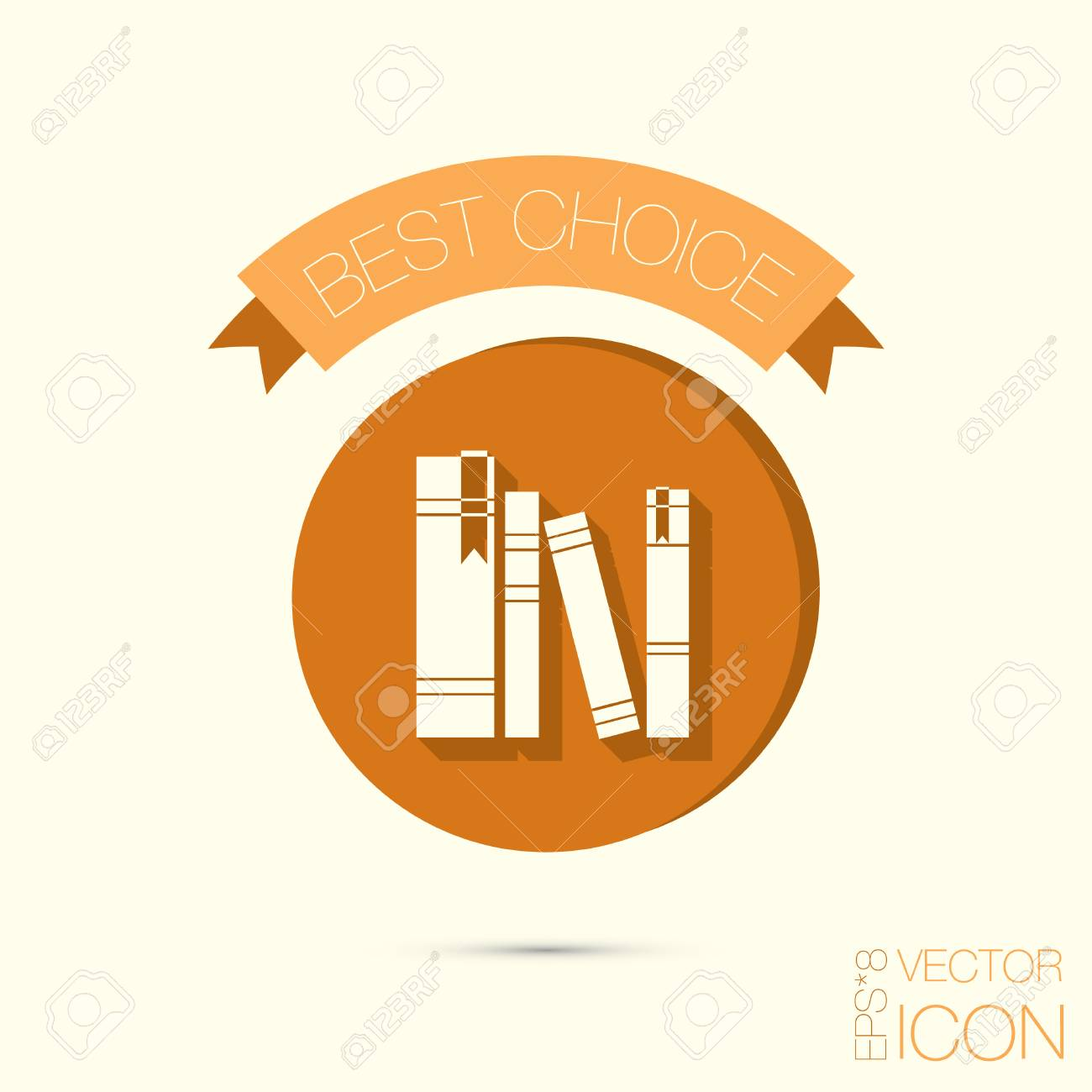 The Spines Of Books Icon Symbol Of A Science And Literature Royalty