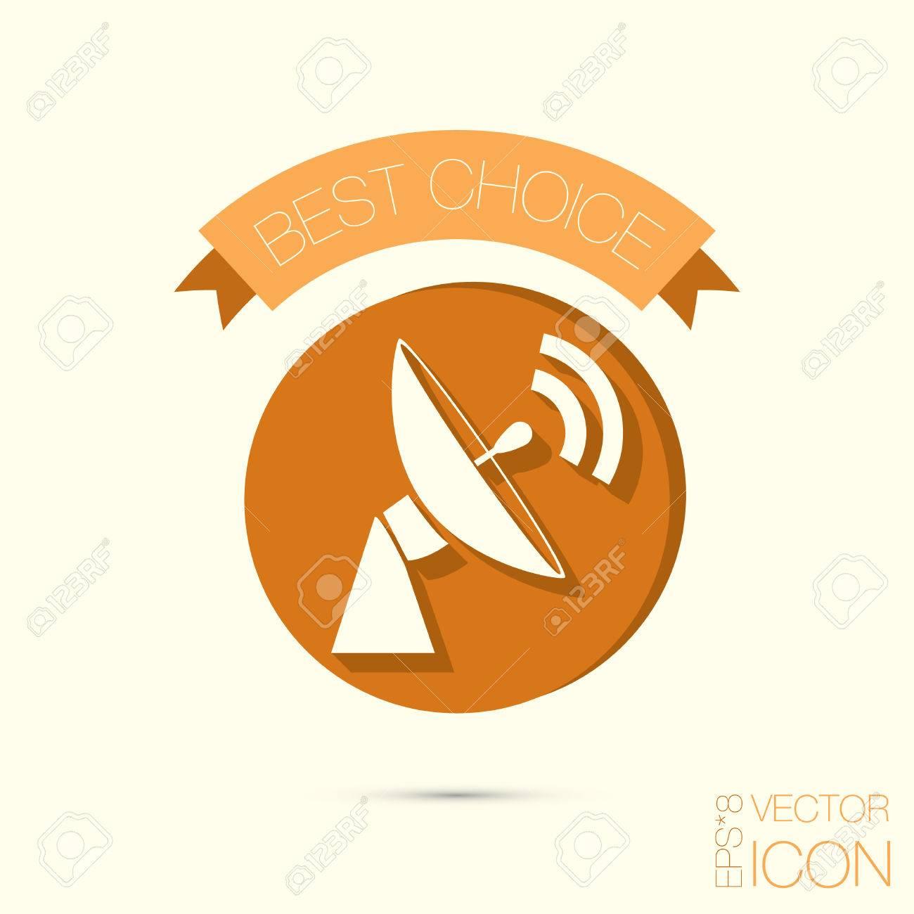 Satellite Dish Icon Radar Sign Antenna Symbol Royalty Free