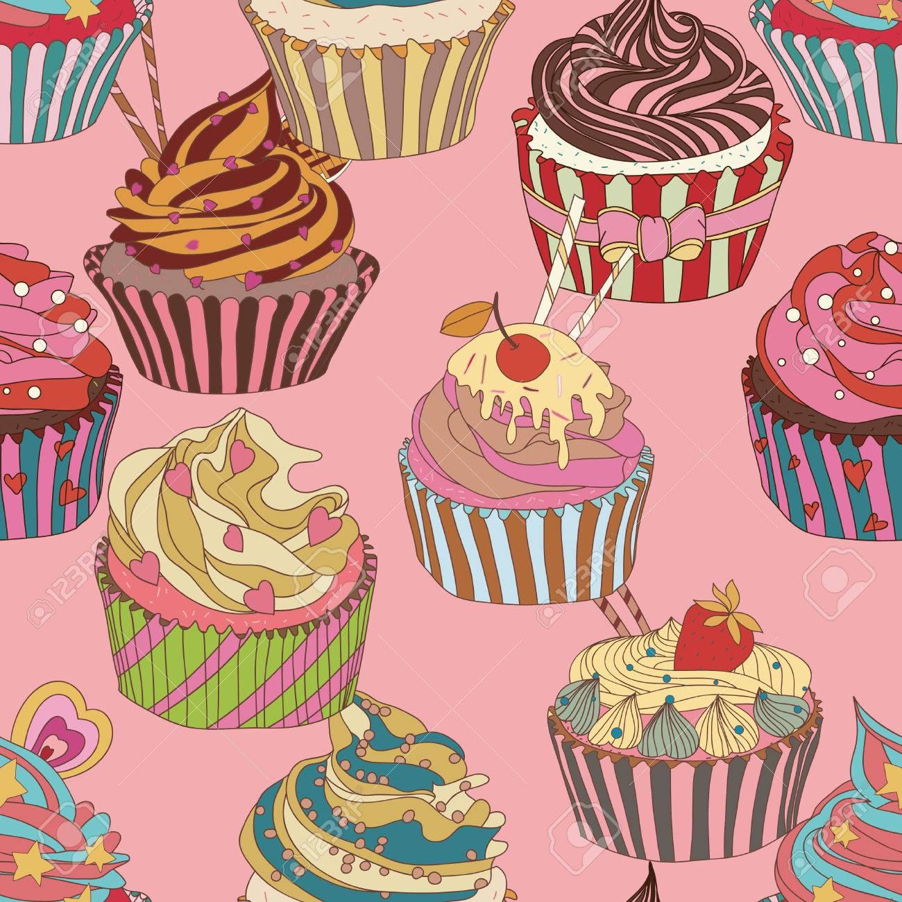 kuchen muster nahtlose se nahrung textur verwenden sie als musterfllung standard bild - Kuchen Muster